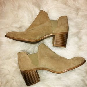 ZARA Tan Ankle Booties Size 9